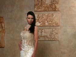 Oryginalna suknia Serenada firmy Emmi Mariage!!! ecru/złota rozm 36