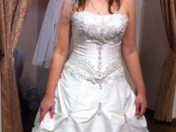 Oryginalna suknia ślubna ecru rozmiar 38/40 + ocieplane bolerko GRATIS