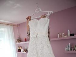 Oryginalna suknia ślubna koronkowa Justin Alexander 8557