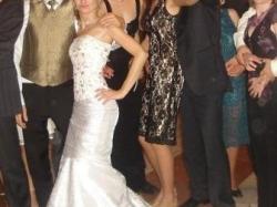Oryginalna suknia ślubna w idealnym stanie, dopasowana, syrena