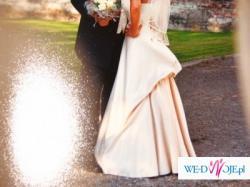 Oryginalna Suknia Ślubna w kolorze Szampana