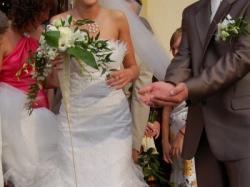 ORYGINALNA SUKNIA ŚLUBNA Z FRANCUSKIEJ KOLECJI MARIEES DE PARIS