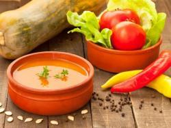 Ostra pomidorowo-dyniowa zupa krem