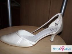 pantofelki ślubne, nowe, nienoszone
