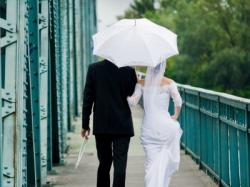 parasol koronkowy biały ślubny