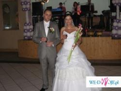 Pękna suknia z kolekcji Flavie + męska kamizelka ślubna