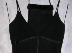 Pięka czarna suknia z torebką