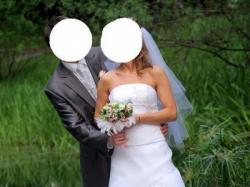 Pięka suknia ślubna z salonu Classa