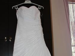 Piękna, biała, muślinowa suknia ślubna !