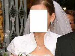 Piekna biała sukna Ślubna!!!