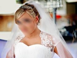 Piękna biała suknia 36/38 + bolerko welon diadem biżuteria buty.