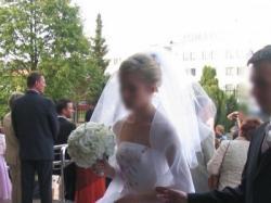 Piękna, biała suknia firmy Agora