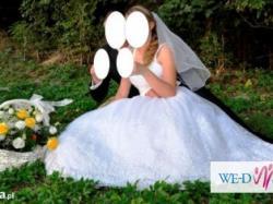 Piękna biała suknia ślubna!