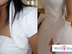 Piękna biała suknia ślubna Milagos