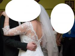 piękna biała suknia ślubna roz. m