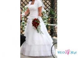 Piekna biała suknia ślubna rozm.42/44