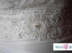 Piękna  biała suknia ślubna rozmiar 38 z dodatkami