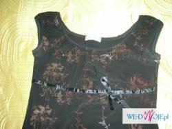 Piękna, czarno- brązowa sukienka :)