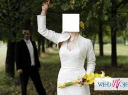 Piękna, delikatna, koronkowa suknia ślubna ETANA
