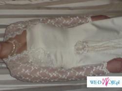 piękna delikatna suknia ślubna