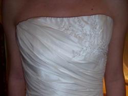 Piękna, delikatna suknia ślubna Herm's model Linghal; ecru; 36/38