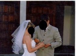 Piękna dwuczęściowa suknia ślubna