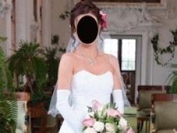 Piękna, elegancka, biała suknia ślubna