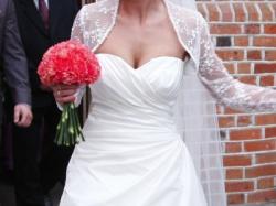 Piękna elegancka suknia ślubna, OKAZJA !!