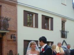Piękna hiszpańska suknia ślubna firmy Pronovias (rozmiar 36/38)