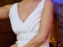 Piękna i delikatna suknia ślubna  w stylu greckim stan idealny