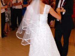 Piękna I Elegancka Koronkowa Suknia Ślubna ! Cudna ! Welon Gratis !