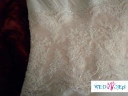 Piekna i elegancka suknia ślubna roz.40