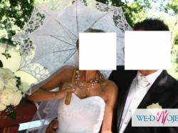 Piękna i niepowtarzalna biała suknia ślubna 34/36