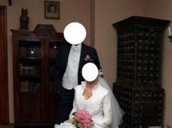 Piękna i oryginalna suknia ślubna, rozmiar 36-38