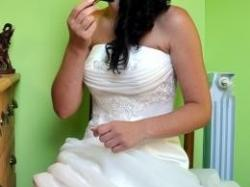 piękna i wdzięczna suknia ślubna Zannet model Clara.r 38.