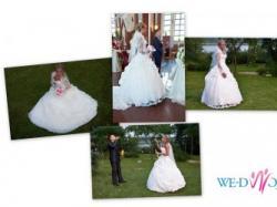 Piękna i Zmysłowa Suknia Ślubna+DODATKI