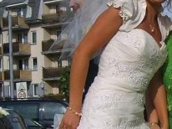 Piękna,jak nowa, oryginalna hiszpańska suknia ślubna! Gratisy!!!