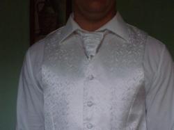 Piękna kamizelka ślubna +krawat +butonierka