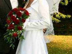 Piękna klasyczna suknia DUBER model 943 kolekcja 2009 + dodatki OKAZJA