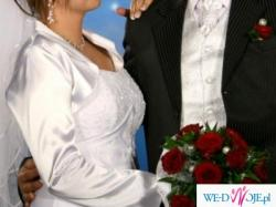 Piękna klasyczna suknia ślubna firmy MBM DUBER model 943 kolekcja 2009