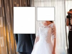 Piękna koronkowa suknia ślubna!!!