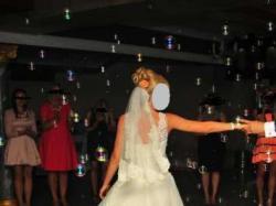 Piękna koronkowa suknia ślubna Herm's, rozm.34-36, 165 cm + obcas
