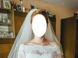 Piękna, koronkowa suknia ślubna, Luna Novias