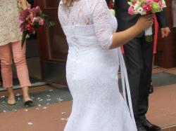 Piękna koronkowa suknia ślubna rozmiar 40-42