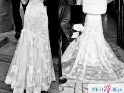 PIĘKNA koronkowa suknia WhiteOne 12 (mod.Tango)+DODATKI GRATIS