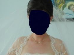 Piękna koronkowo- tiulowa suknia ecru * 1000 zł*