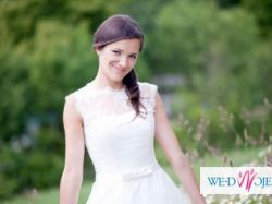 Piękna krótka suknia ślubna, rozm. S, JEDYNY egz.!