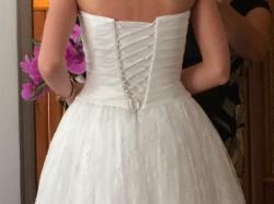 Piękna krótka suknia z koronki !