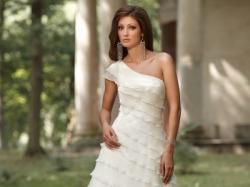 Piękna, muślinowa suknia ślubna