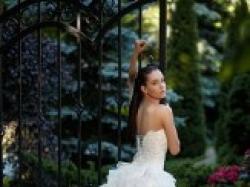 Piękna Perłowa Suknia Ślubna